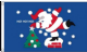 Christmas Ho Ho Ho Large Christmas Flag - 5' x 3'.